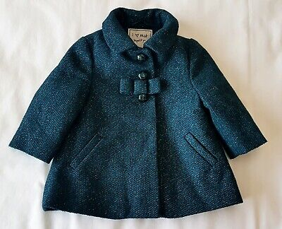 Baby Clothes Girl's Next Emerald Green Winter Coat/Jacket, Age 3-6 Months, Vgc