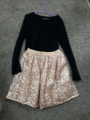 Stunning Girls Next Sparkly Christmas Party Outfit Age 9-10