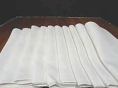 Collection of 10 Large Antique napkins