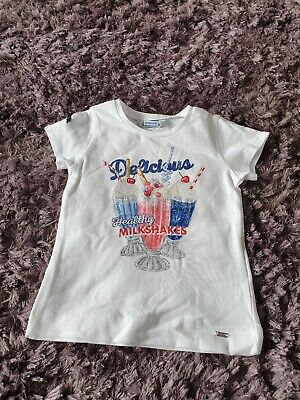 Girls Designer T Shirt. 3 Year Old. Mayoral. New With Tags