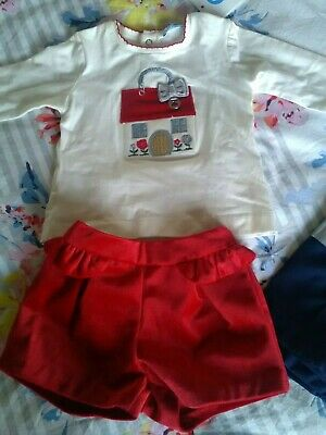 Bnwt Baby Girls Mayoral Outfit Age  3-6 Months (Rrp £38)