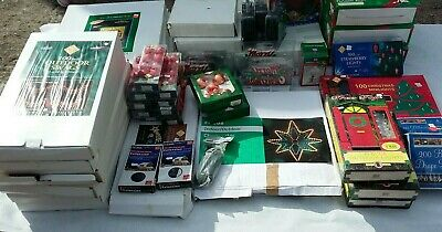 Job lot of Christmas lights and decorations from shop close down and stock sale