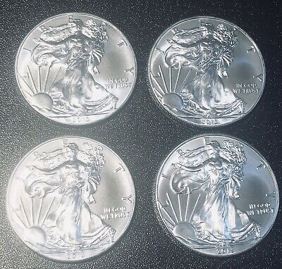 Lot of (4) 2013 American Eagle $1 Silver Dollars 1 oz Bullion Coins *No Reserve*