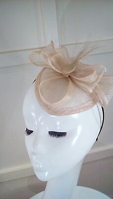 wedding races occasion fascinator natural