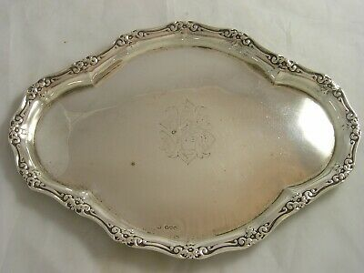 Chester 1904 Edwardian Silver Heavy Gauge Ladies Dressing Table Tray 364 grams