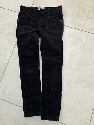Girls Black Skinny Fine Corduroy Trousers. Marks And Spencer Age 8
