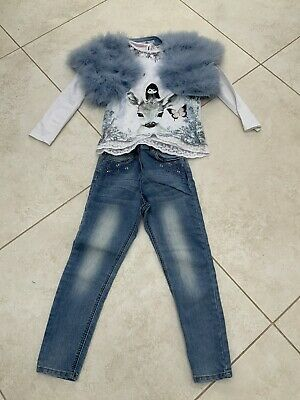 Girls Beautiful Jeans Outfit. Age 6-8