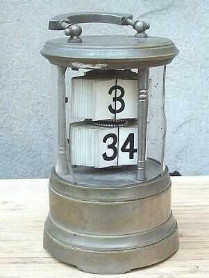 H.A.C. Plato Clock or Ticket Type Clock with Alarm