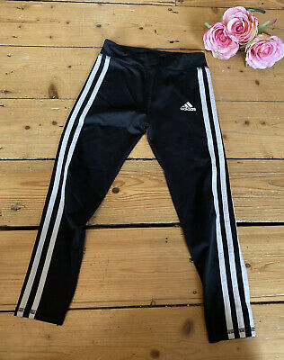 ADIDAS GIRLS LEGGINGS trousers black casual Age 6 Years long KIDS SPORTS PE