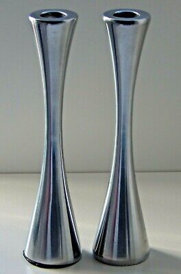 STYLISH METAL CANDLESTICK CANDLE HOLDERS 1950's/70's Mid Century Modern