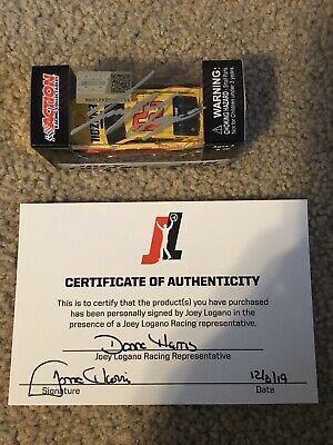 Autographed Joey Logano 2019 Shell-Pennzoil Mustang Diecast 1:64 2018 CHAMP