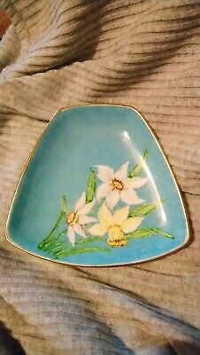 Antique Decorative Plate beautiful small hand painted R. E. N.