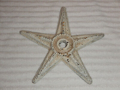 """Vintage (Antique?) Reclaimed Architectural Cast Iron 7.5"""" Star Wall Anchor"""
