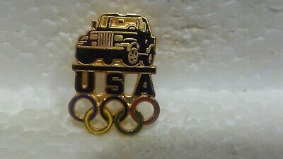Jeep Officiel USA Jeux Olympiques Sponsor Noir Camion de Collection Pin pin3647