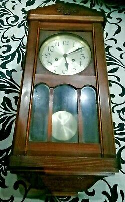 Wall Clock (Brass Movement, Rectangular) (Collection Only, West Midlands)