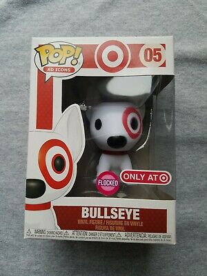 Funko Pop Target Bullseye Flocked ad icons #5 vinyl figure Red dog spot NIB RARE