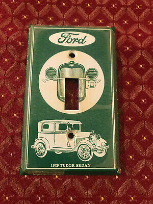 1 NOS 1978 Light Switch Plate Cover Plate, Aluminum, Picture 1910 Model T