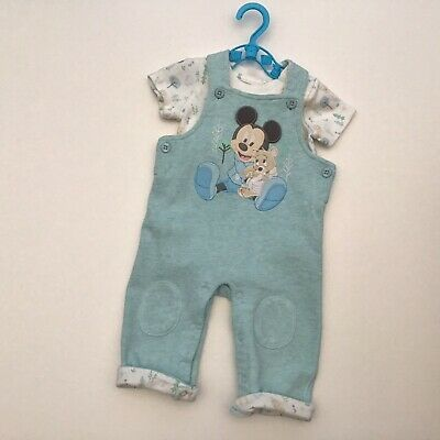 Baby Boy Clothes 3-6 Months Disney Baby Mickey Mouse Bodysuit & Dungarees Set