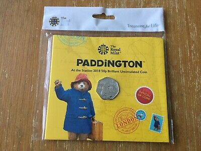 2018 Paddington Bear At The Station 50p Coin In Presentation Pack MINT