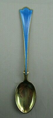 Theodore Olson Gold Gilt Sterling Silver Coffee Demitasse Spoon Norway 821C