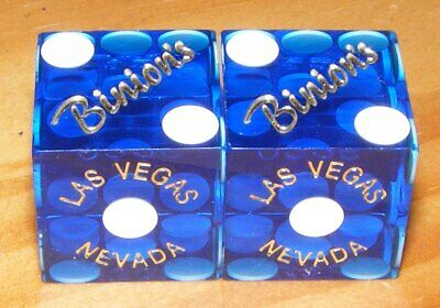 The Binion's Hotel and Casino Playing Dice - Used - Blue - Las Vegas