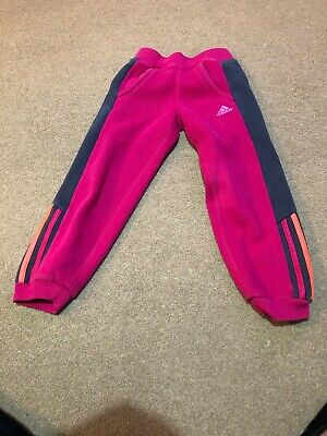 Adidas Pink Girls Tracksuit Bottoms age 6