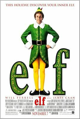 ELF - 2003 - original 27x40 Final Movie Poster -  WILL FERRELL, ZOOEY DESCHANEL
