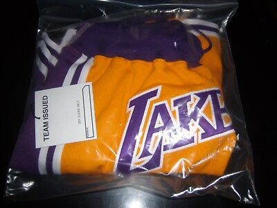 Just Don Shorts,Lakers Team Issue  Size Large,New Tags, Hanger,Mitchell&Ness Pin
