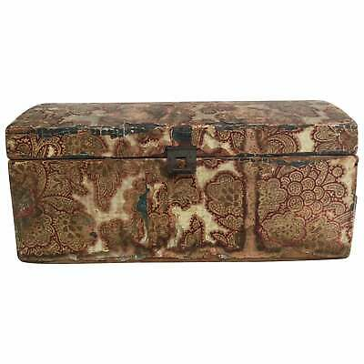 19th Century WallPaper Covered Dome Top Document Box