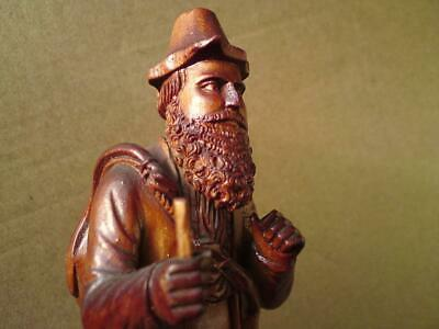 Antique 19th-20th Century Swiss Black Forest Carved wood figure of a Hunter a/f