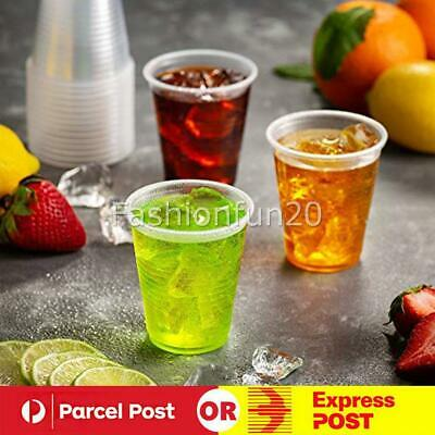 200ml Clear Disposable Plastic Cups Party Drinking Water Coffee Cup Reusable W