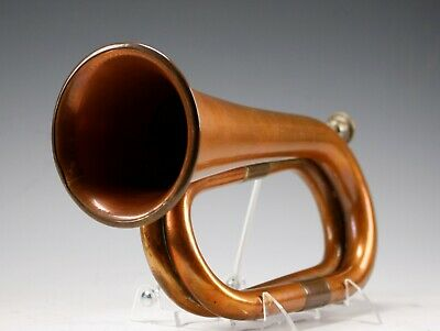 Vintage Military Brass Marching Band Bugle Musical Instrument