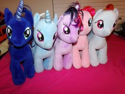 """Build A Bear My Little Pony 16"""" Lot Of 5 Ponies."""