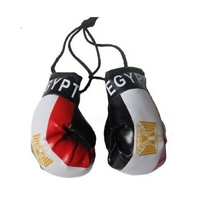 Egypt Miniature Boxing Gloves (Pair) World Cup 2018 Hang On Car Mirror/Bags