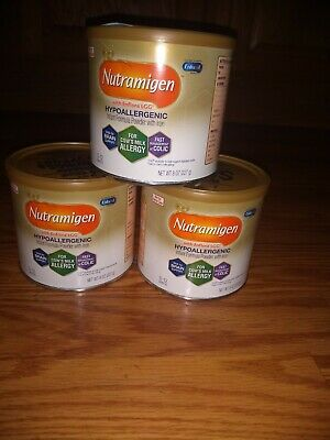 Lot of 6 Nutramigen Powder Formula 8oz. 6 Cans!