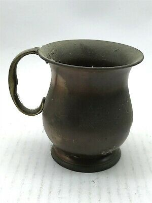 """Antique Brass Metal Cup Collectable 4"""" Inches Tall <CA03 (T36)"""