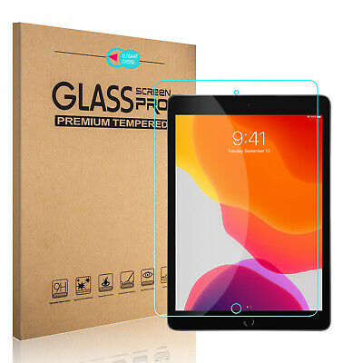 For iPad 10.2 inch 2019 7th Gen HD Tempered Glass Screen Protector Film Cover