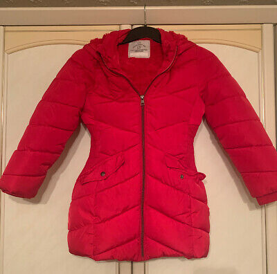 George Girls Red Puffer Coat 8-9 Years