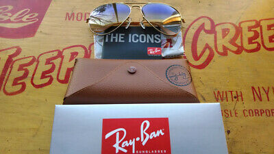Womens Ray-Ban Aviator Authentic Sunglasses RB3025 gold blue gradient 001/3F 58
