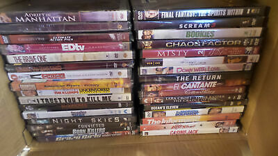 Wholesale Lot of 32 Different Brand New Sealed DVD Movies (Lot 748)