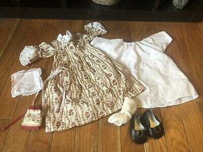 American Girl Doll Historic Felicity Rose Meet Dress & Accessories