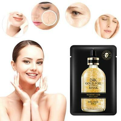 1pc Hyaluronic Acid 24K Gold Facial Mask Anti Wrinkle Aging Masks Hydrating
