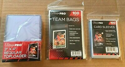 Ultra Pro Lot - 25 Top Loaders, 100 Team Bags, and 100 Penny Sleeves New Sealed