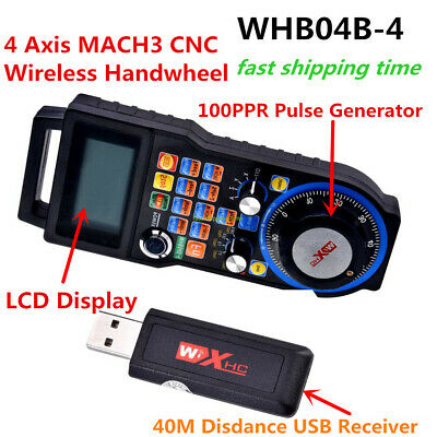 Wireless Mach3 MPG Pendant Handwheel 4 axis USB Handle MPG for CNC Mach 3