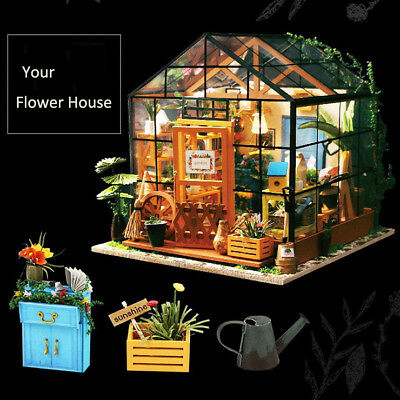 ROBOTIME DIY Wooden Miniature Dollhouse Model Kits House Toy for Adult Girl Kids