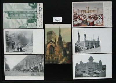 1900's 1910's Antique NEW YORK CITY Postcard Lot - 39 Postcards - Free Shipping
