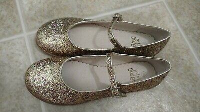 Mini Boden girls' leather glittery mary jane multi-color sparkly shoes NEW 38/8