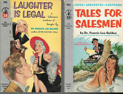 VINTAGE SLEAZE BOOKS two humor books from pocket books
