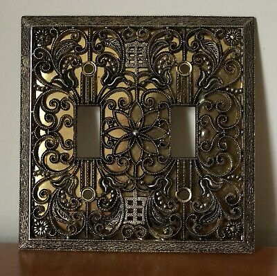 Vintage Ornate Mid Century Hollywood Light Switch Wall Plate