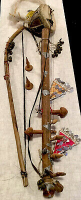 ANTIQUE RAVENHATTA FOLK INSTRUMENT Handmade Ceremonial Instrument,one-Of-A-Kind!